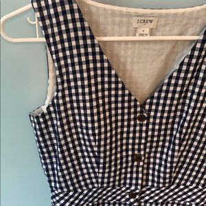J. Crew Dresses - J.Crew Button Down Gingham Dress